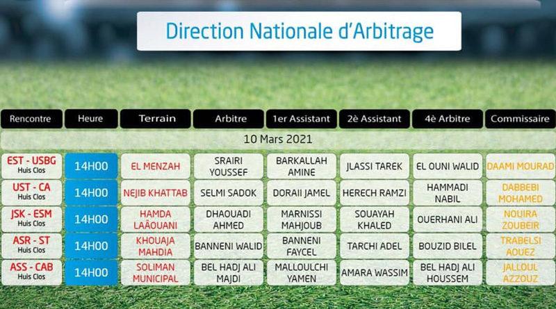 17. Spieltag der Liga 1 Tunesien am 10. März 2021 - Rückrunde