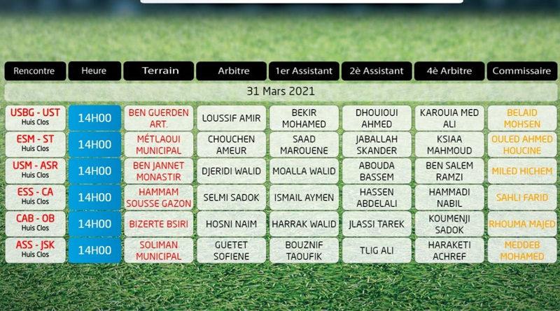 21. Spieltag der Ligue 1 Tunesien am 31. März 2021 - Rückrunde