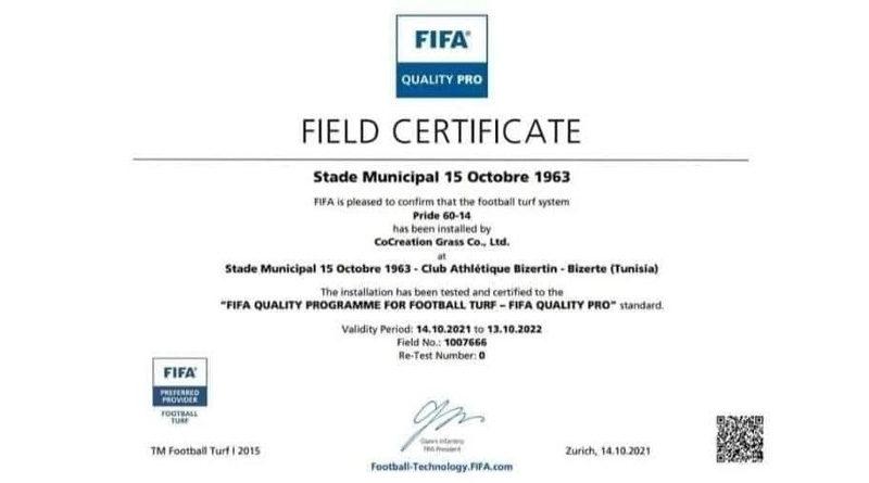 CAB: FIFA genehmigt die Austragung von Spielen im Stadion des 15. Oktober in Bizerte